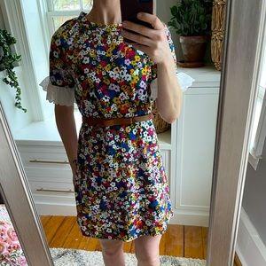 Ann Taylor floral eyelet shift dress.